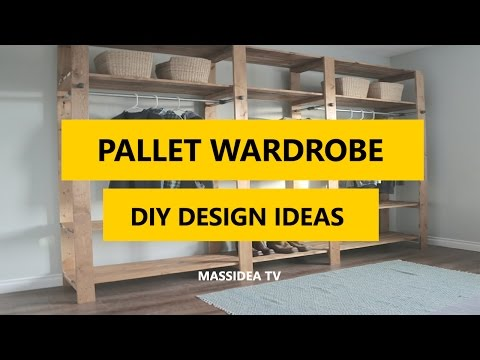 50+ Best Pallet Wardrobe DIY Design Ideas 2017
