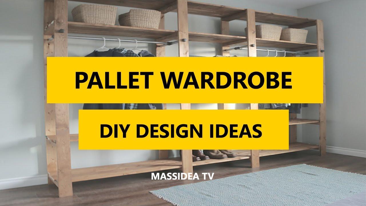 50+ Best Pallet Wardrobe DIY Design Ideas 2017 - YouTube on Pallet Design Ideas  id=87159