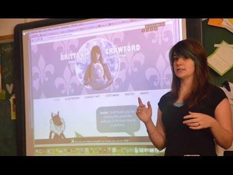 Brittani Crawford visits LHS