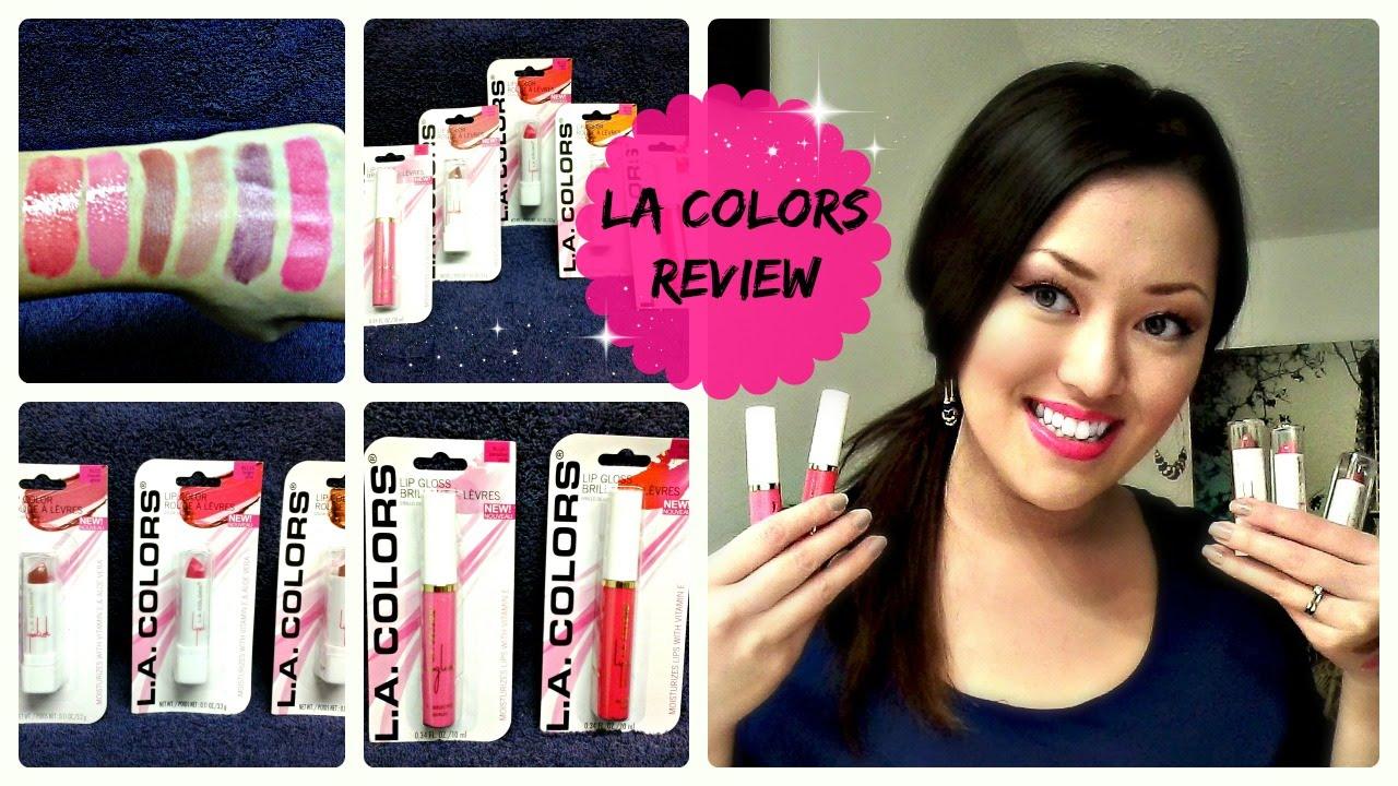 Dollar Tree Makeup Review La Colors Lipsticks