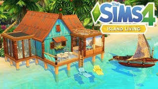 TINY OFF-THE-GRID SHACK 🐠🐟 | The Sims 4: Island Living | Speed Build