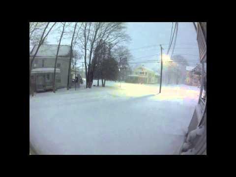 Winter Storm Nemo Time-Lapse Greenfield Massachusetts