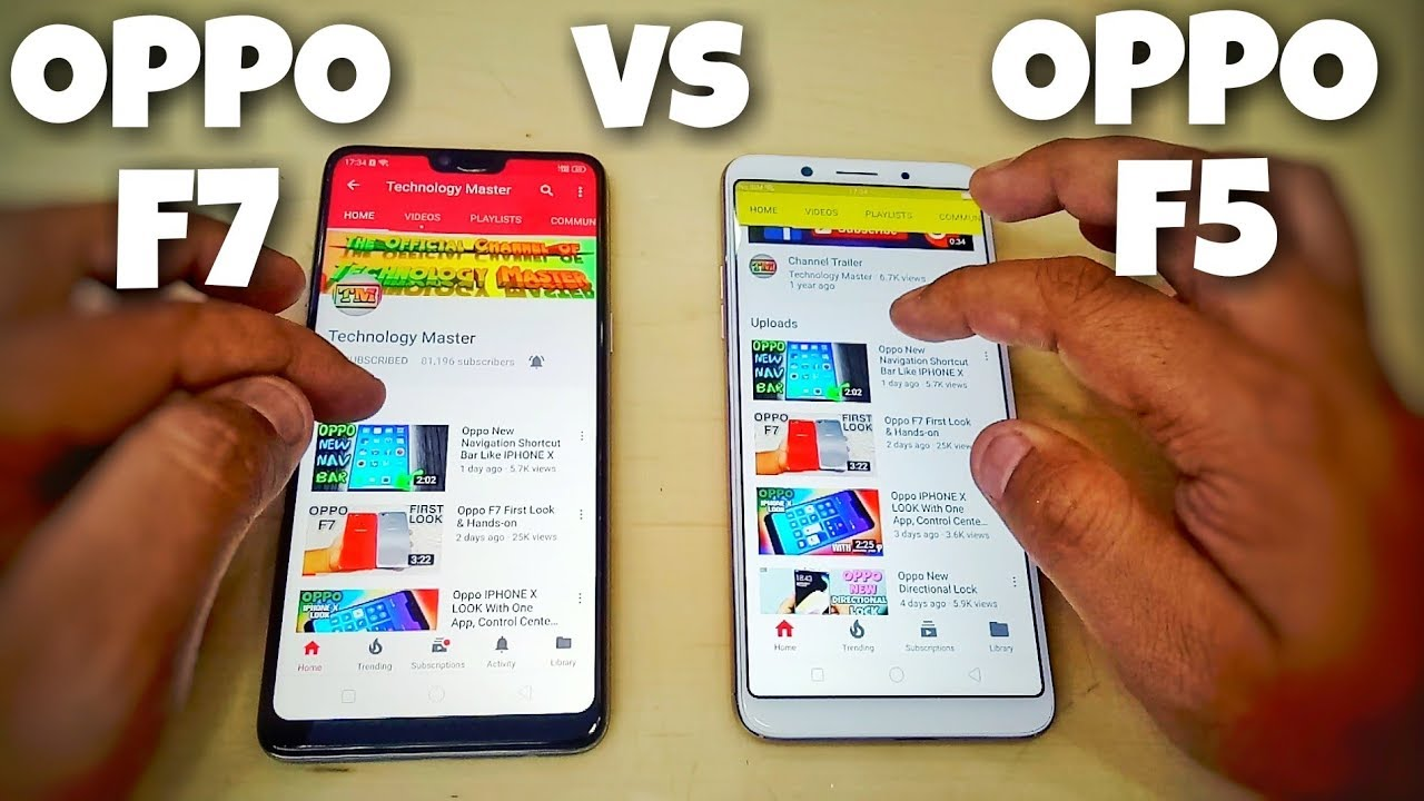 Oppo F7 Vs Oppo F5 Speed Test Oppo F5 Vs Oppo F7 Speed Test Youtube
