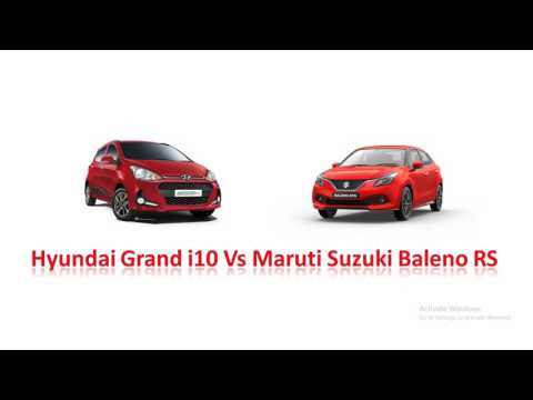Maruti Baleno RS vs Hyundai Grand i10 - features, price