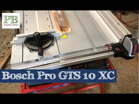 Bosch Gts 10 Xc Scie Sur Table Table Saw Youtube