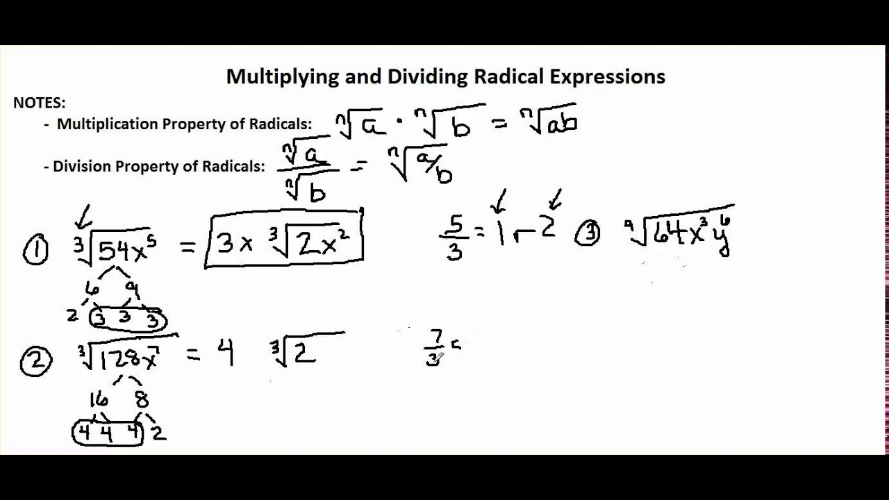 Chapter 6-2 video 2: Simplifying Radical Expressions - YouTube