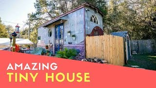 Beautiful Diy European Style Tiny House With Pizza Oven