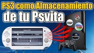Usa tu PS3 como ALMACENAMIENTO EXTRA para tu PSVITA 2020