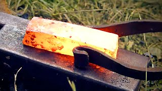 Smelting and forging bloom iron