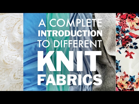 A Complete Introduction to Different Knit Fabrics | DoItBetterYourself.club