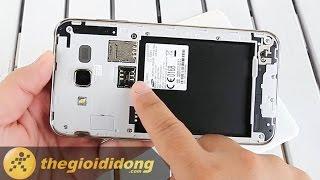 Hướng dẫn tháo lắp sim và thẻ nhớ Samsung Galaxy J7 | www.thegioididong.com