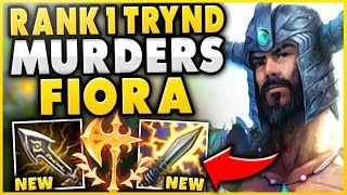 #1 TRYNDAMERE WORLD DESTROYS ENEMY FIORA TOP! (REPORTED FOR FEEDING) - League of Legends
