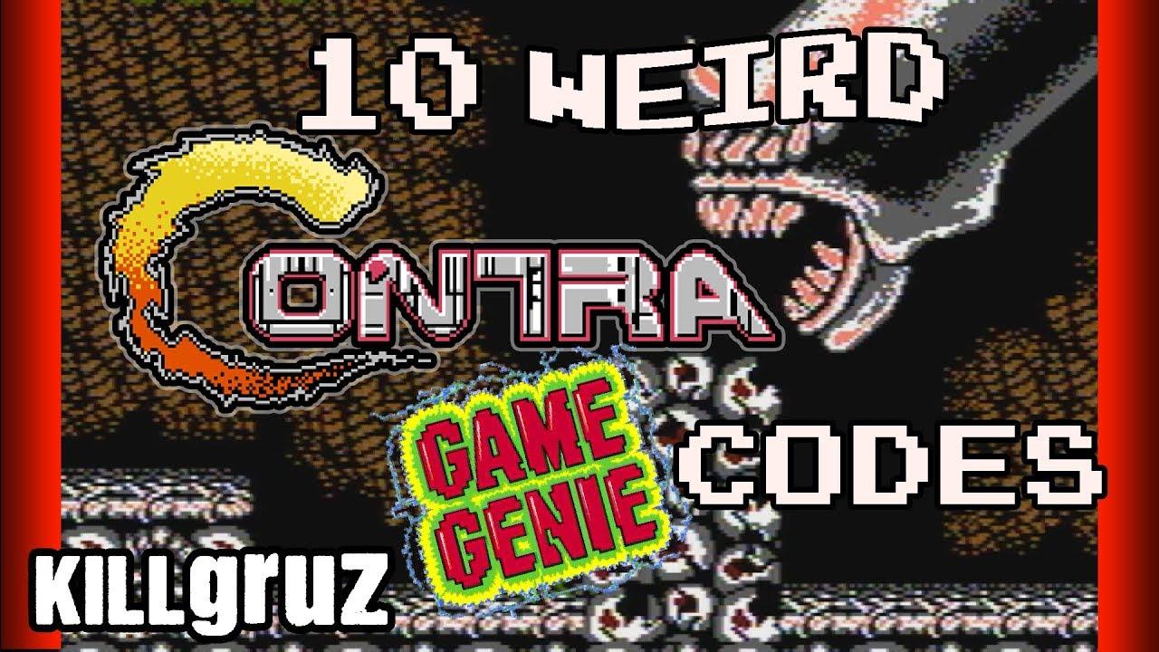 10 WEIRD <b>Contra Game Genie Codes</b> - Killgruz - YouTube