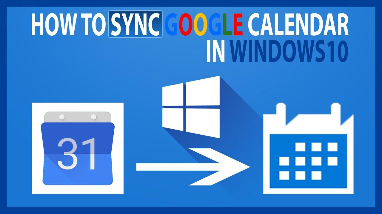 How to add Google Calendar in Windows 10