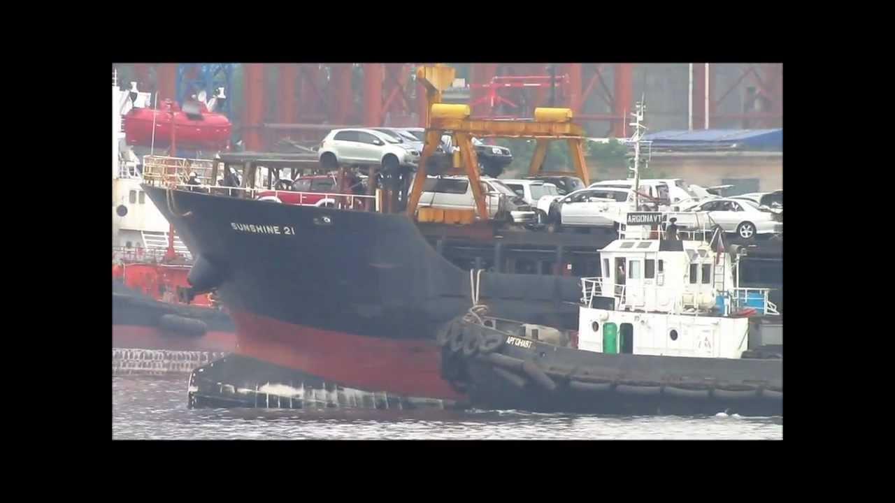 Доставка свежей партии японских авто во Владивосток - YouTube