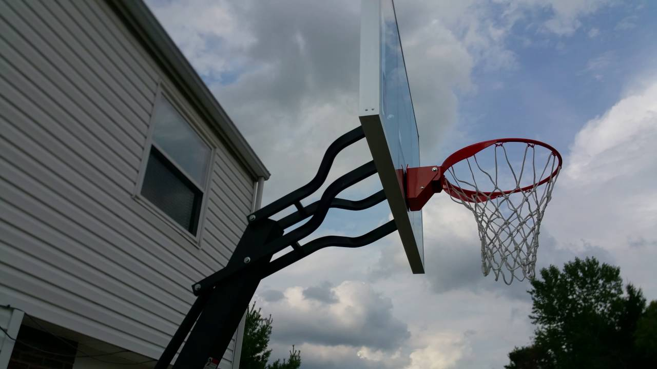 Spalding The Beast Basketball System Youtube Hoop Diagram