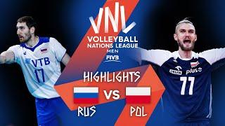 RUS vs. POL - Highlights Week 2 | Men's VNL 2021