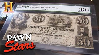 Pawn Stars: $650,000 for ONE-OF-A-KIND Texas Currency (Season 6) | History