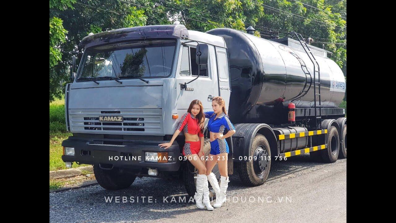 Xe vận chuyển nhựa đường nóng lỏng 12 – 17m3 nhập khẩu | Xe nhựa đường Kamaz  Nhập Khẩu Từ Nga