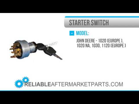 1465 ar58126 new john deere ignition starter switch with keys 820 rh youtube com John Deere Starter Wiring Diagram John Deere Sabre Wiring Diagram
