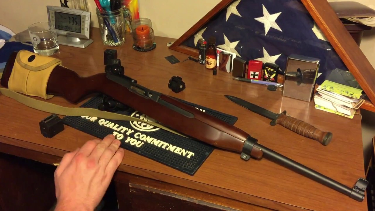 Showing off my custom Ruger 10/22 M1 carbine tribute