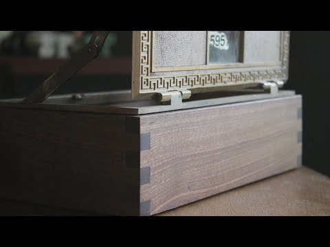 Making a Keepsake Box from a Vintage Post Office Box Door