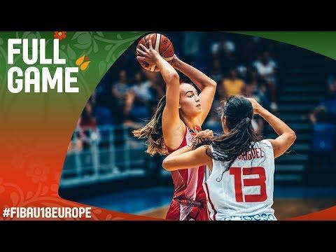 Spain v Hungary - Full Game - Classification 5-6 - FIBA U18 Women's European Championship 2017