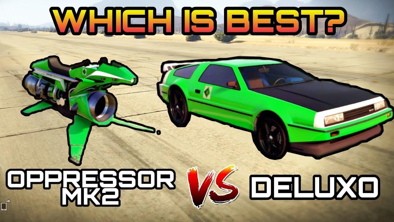 GTA 5 ONLINE: OPPRESSOR MK2 VS DELUXO | Review/Test
