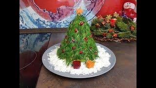 Ёлочка на снегу!!!Новогодный Салат !!!