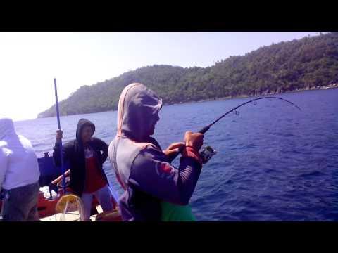 Big GT fishing malacca strait near aceh