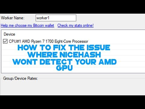Nicehash Not Detecting AMD Graphics Card FIX 2017 - YouTube