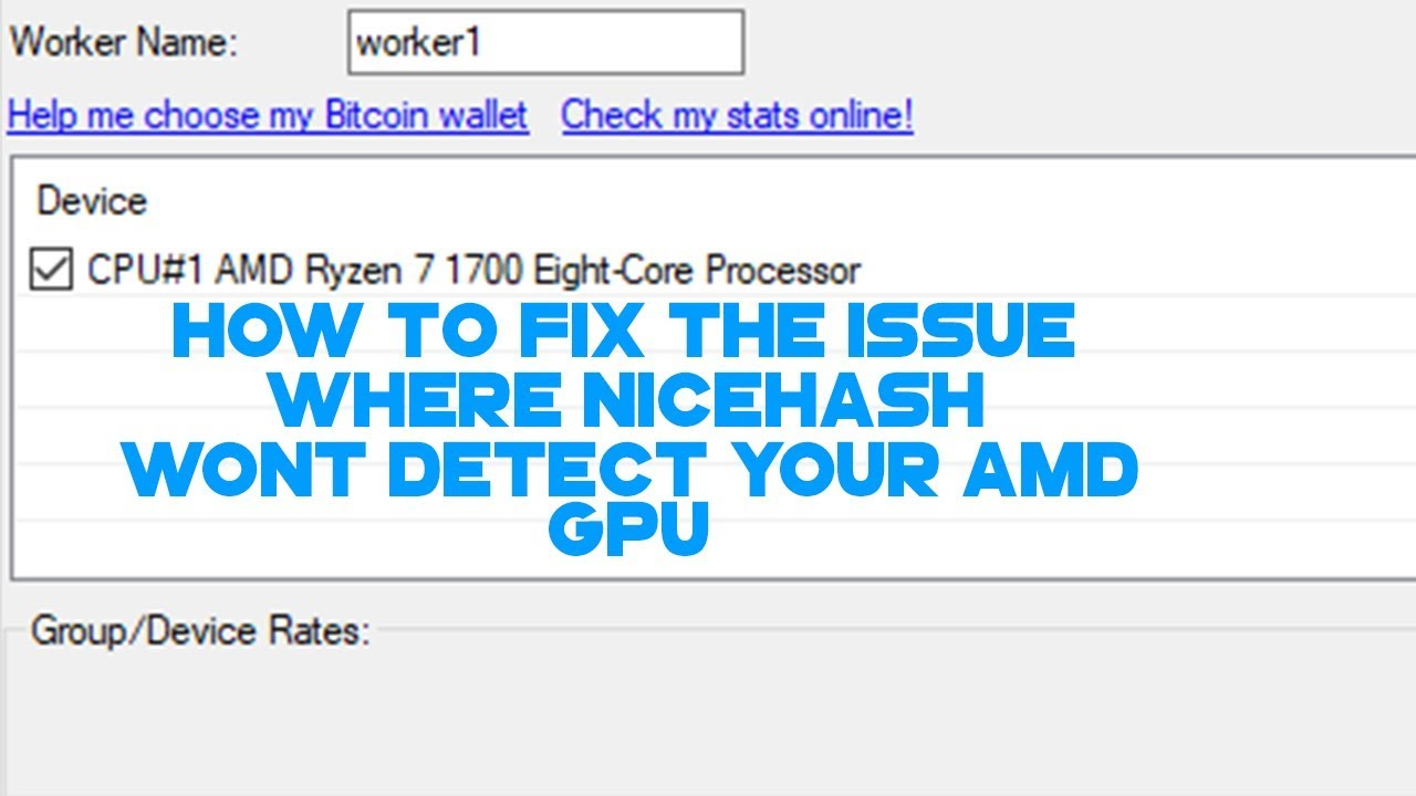 Nicehash Not Detecting AMD Graphics Card FIX 2017
