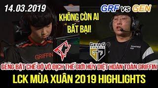 [LCK 2019] GRF vs GEN Game 2 Highlights | Siêu đại địa chấn, Ruler và Peanut bật chế độ hủy diệt