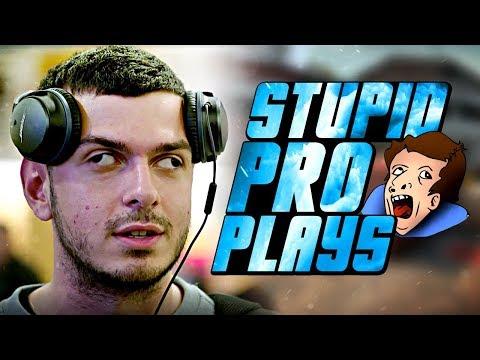 WHEN CS:GO PRO PLAYERS MAKE STUPID PLAYS! (10 IQ PLAYS)