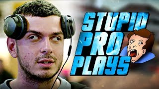 WHEN CS GO PRO PLAYERS MAKE STUPID PLAYS 10 IQ PLAYS