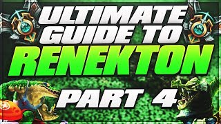 Ultimate Renekton Guide - Part 4: Split Pushing and Wave Management