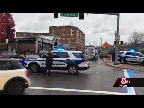 One shot near Jackson Square Station
