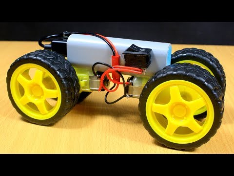 How To Make A Fast Car Using DC Gear Motor And Power Bank - Very Fast