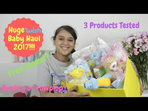 Huge Wish Baby Haul 2017 - Including Product Testing! - Free Items True or False?!