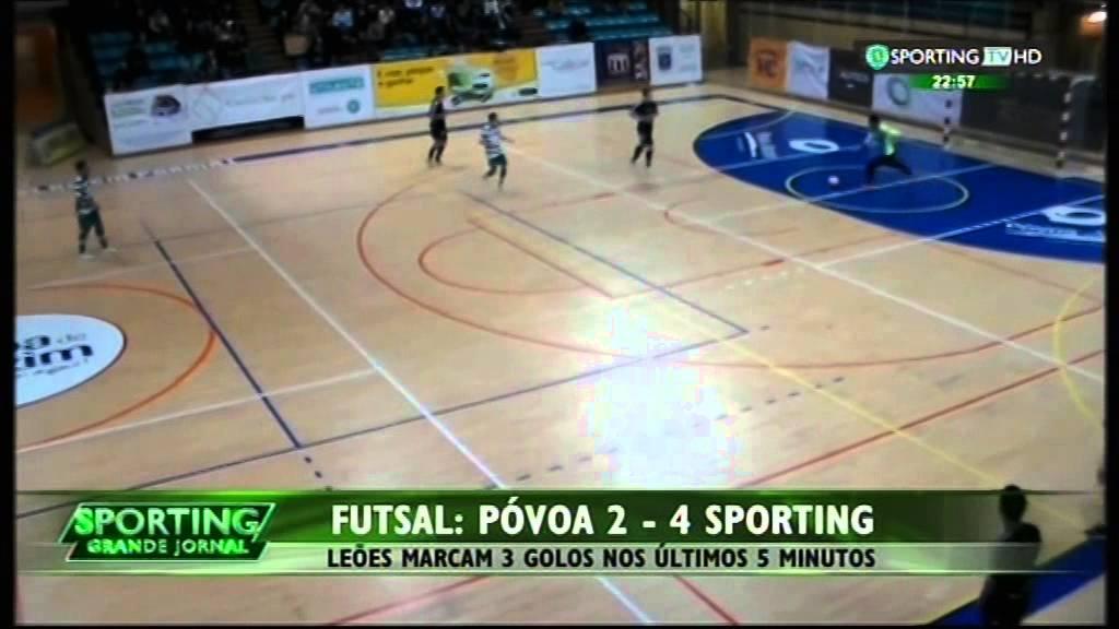 Futsal :: 22J :: Póvoa Futsal - 2 x Sporting - 4 de 2014/2015