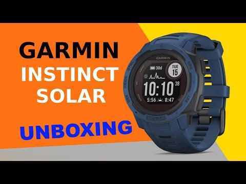 Garmin Instinct Solar Tidal Blue Unboxing HD (010-02293-01)