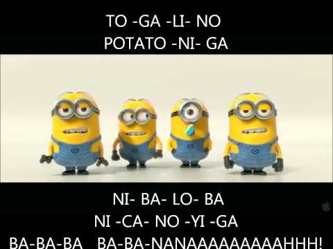Minions BANANA POTATO Lyrics Despicable Me 2 Mi Villano Favorito 2  [www.ActivosCosmeticos.com] Videos De Viajes