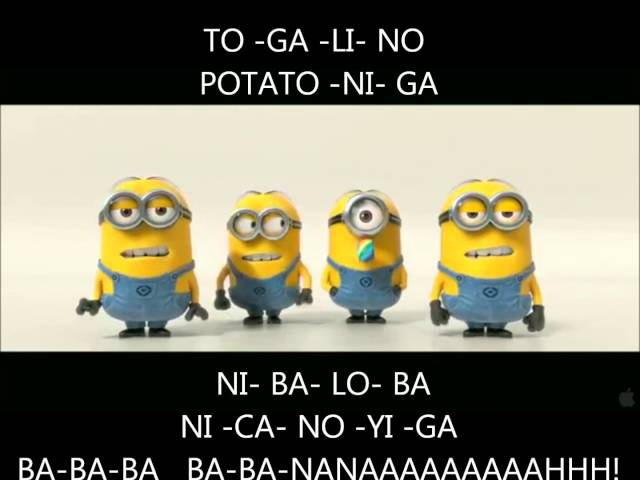 Minions BANANA POTATO Lyrics Despicable Me 2 Mi Villano Favorito 2  [www.ActivosCosmeticos.com] Travel Video