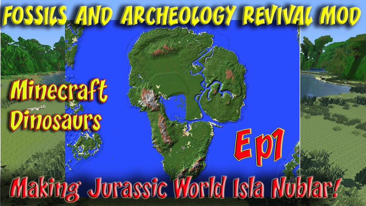 Fossils and Archeology Revival Mod Minecraft Jurassic World Ep1 – Jurassic World Map Minecraft 1 7 10