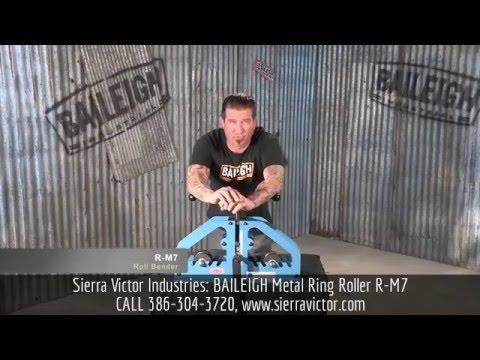 Sierra Victor Machinery: BAILEIGH Metal Ring Roller R-M7