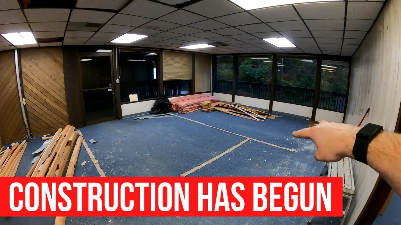 Construction has begun on the new candle store - Walkthrough number two