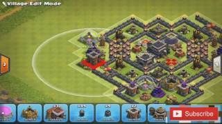 Clash Of Clans- Best Town Hall 9 Farming. (Trophy Base)