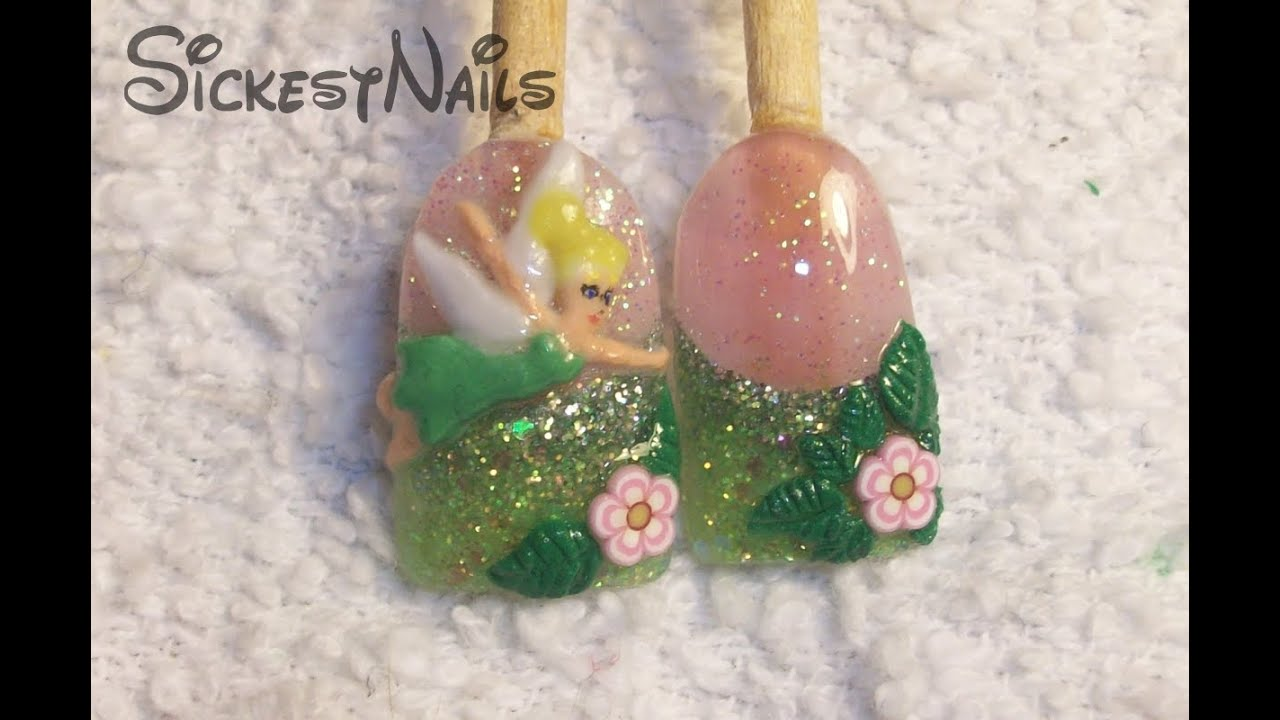 Acrylic nail design 3d tinkerbell inspired nails 3 youtube acrylic nail design 3d tinkerbell inspired nails 3 prinsesfo Gallery