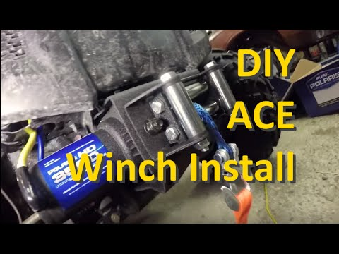 How to install a winch on a Polaris ACE - YouTube YouTube