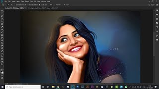 5 DIGITAL PAINTING SERIES How to smduge hair in photoshop tutorial